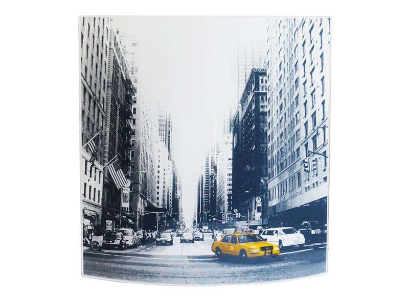 Applique en verre new york street conforama pickture for Poubelle new york chambre
