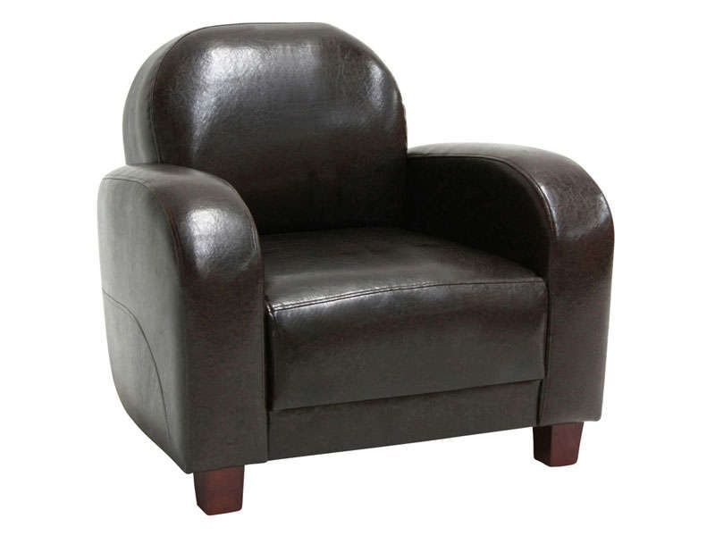 fauteuil club solfege coloris marron conforama pickture. Black Bedroom Furniture Sets. Home Design Ideas
