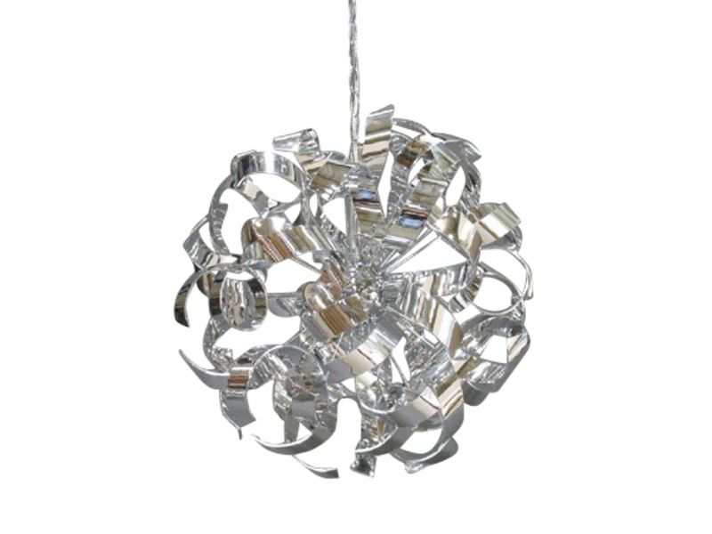 Lustre 4 lampes frise chrome conforama pickture for Lustre pas cher salon