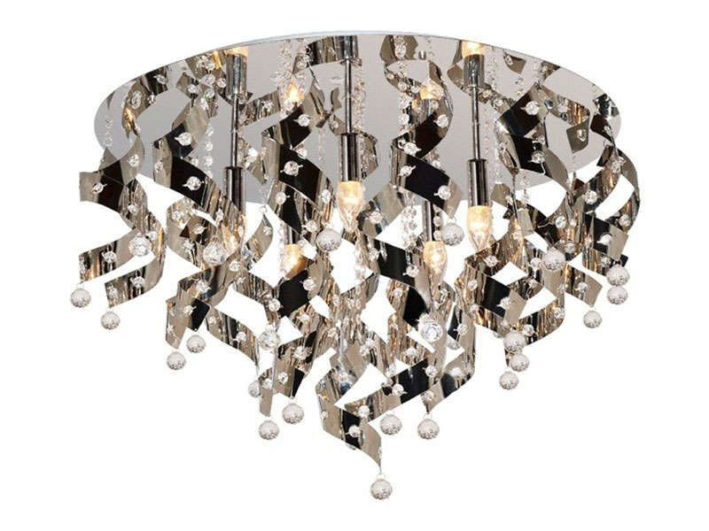 Lustre 5 lampes louis chrome conforama pickture for Lustre conforama