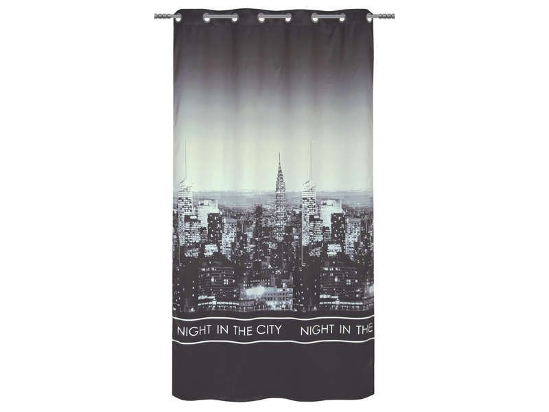 Rideau 140x260 cm night in the city conforama pickture - Rideau new york conforama ...