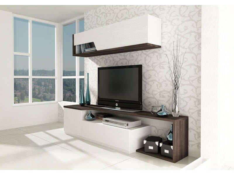 meubles tv 2 portes 1 tiroir tokk coloris conforama. Black Bedroom Furniture Sets. Home Design Ideas