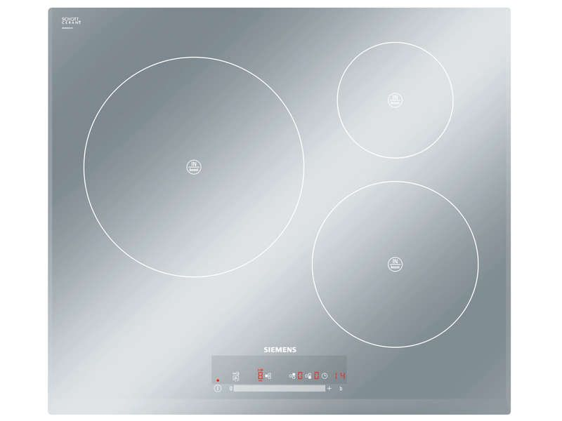Table induction 3 foyers siemens eh659fl17e siemens - Table induction blanche 3 foyers ...