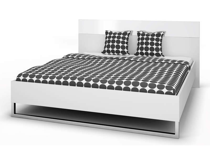 lit 180x200 t te de lit style coloris blanc conforama pickture. Black Bedroom Furniture Sets. Home Design Ideas