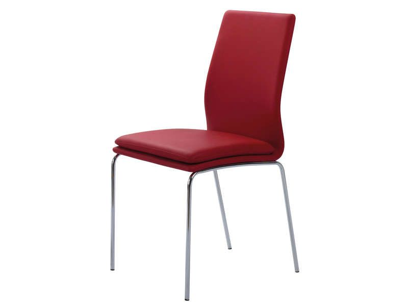 Chaise greg coloris rouge conforama pickture - Chaise rouge conforama ...