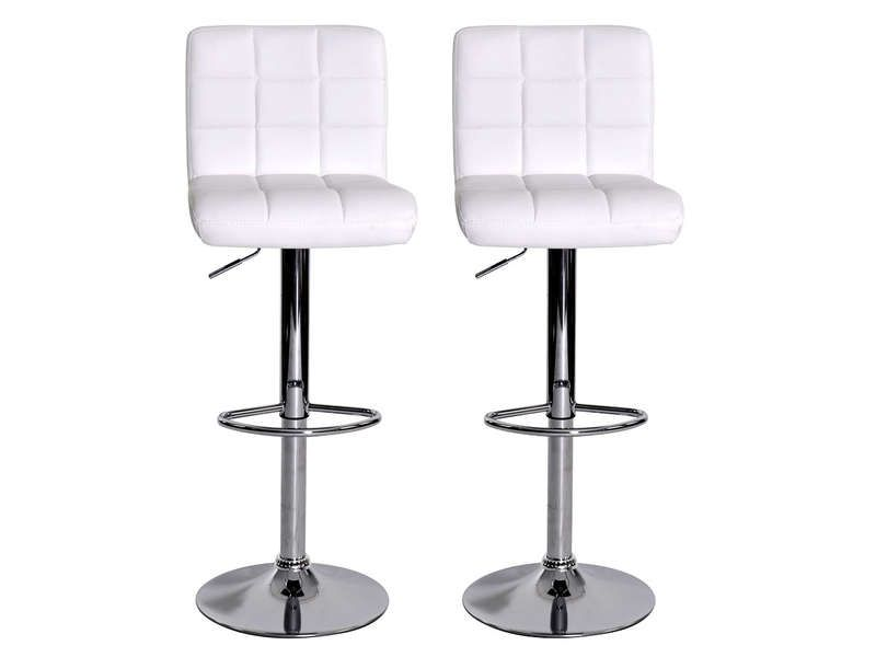 lot de 2 tabourets de bar nala coloris blanc conforama. Black Bedroom Furniture Sets. Home Design Ideas