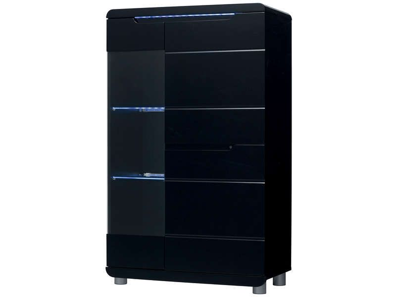 vitrine bel air coloris noir conforama pickture. Black Bedroom Furniture Sets. Home Design Ideas