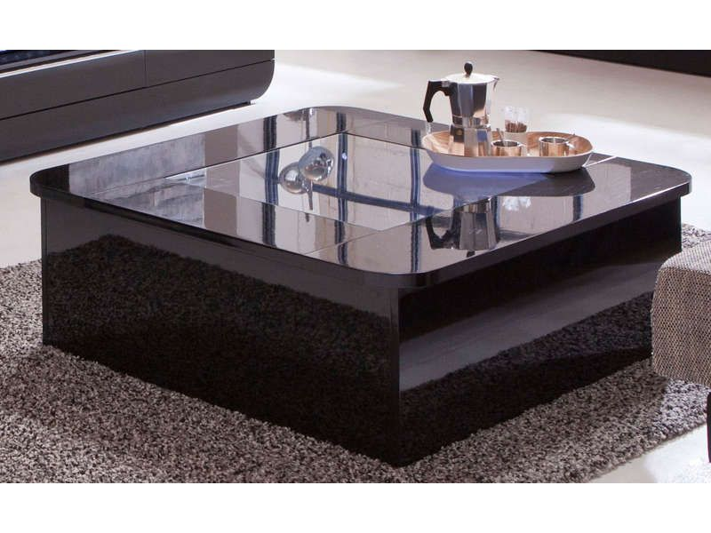 Table basse floyd coloris noir conforama pickture - Table basse noire design ...
