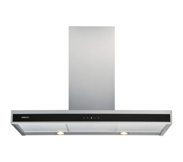 Hotte murale d corative cwb9711xh beko pickture for Installation hotte murale