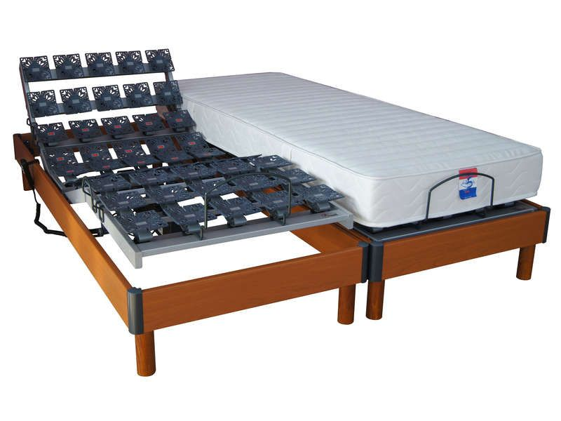 matelas sommier 2x80x200 cm essence conforama pickture. Black Bedroom Furniture Sets. Home Design Ideas