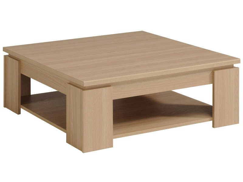 Table basse cody coloris ch ne clair conforama pickture for Table basse en chene clair
