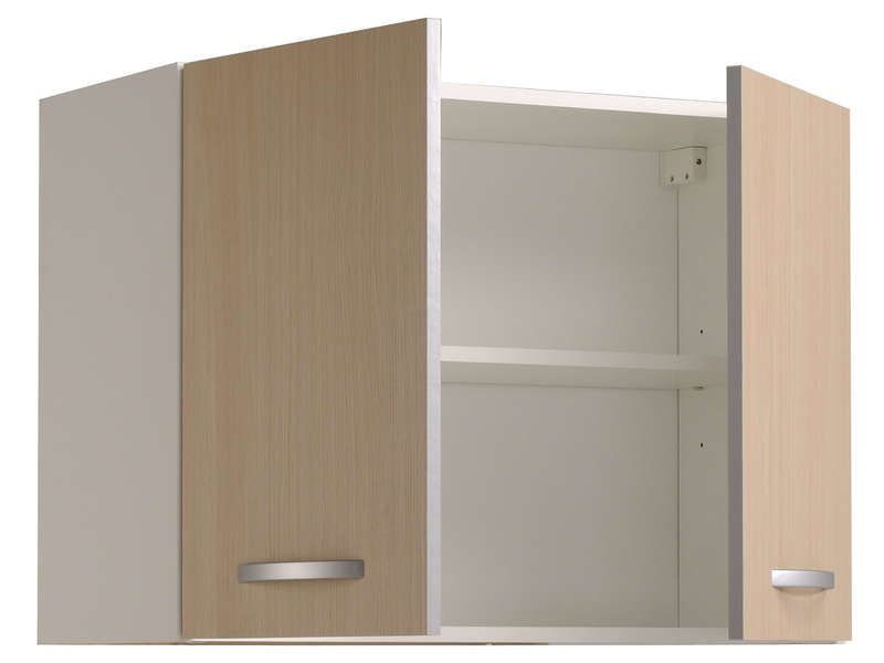 Meuble haut 80 cm 2 portes spoon color coloris conforama for Meuble 2 porte conforama