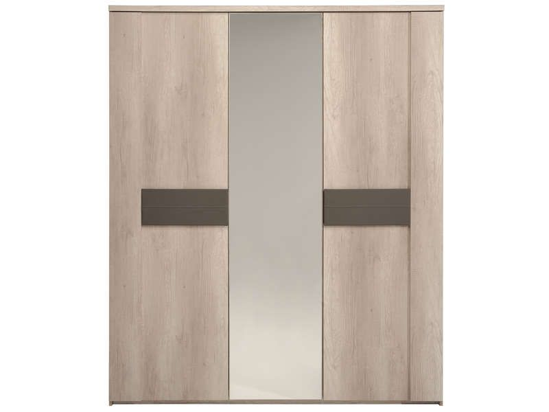 armoire 2 portes 1 porte miroir anouk conforama pickture. Black Bedroom Furniture Sets. Home Design Ideas
