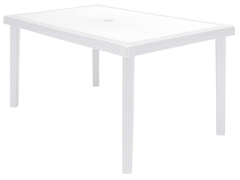 table de jardin 90x150 cm boheme coloris blanc conforama pickture. Black Bedroom Furniture Sets. Home Design Ideas