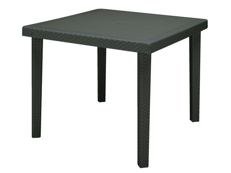 table de jardin 90x90 cm boheme coloris anthracite conforama pickture. Black Bedroom Furniture Sets. Home Design Ideas