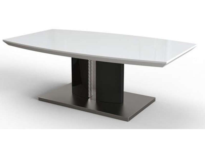 Table basse delhia coloris noir et blanc conforama for Table noir et blanc