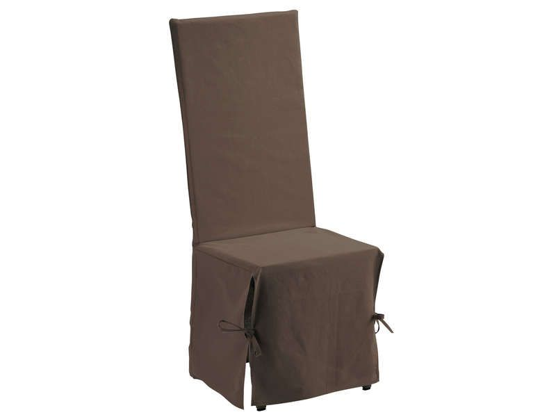 Housse de chaise 45x50 cm coloris chocolat conforama pickture - Becquet housse de chaise ...