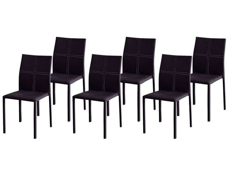 Lot de 6 chaises atia coloris noir conforama pickture for Lot de 6 chaises grises