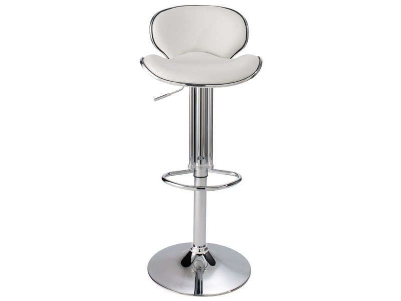 tabouret de bar shoko coloris blanc conforama pickture. Black Bedroom Furniture Sets. Home Design Ideas