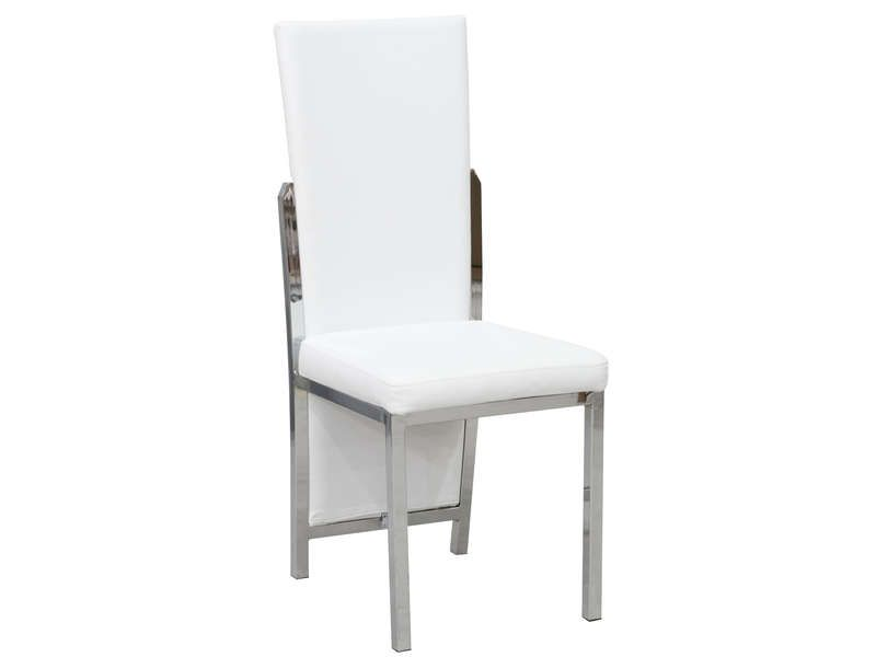 Chaise shiny coloris blanc conforama pickture for Chaise cuir blanc conforama
