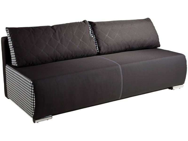 banquette lit convertible aries coloris noir blanc conforama pickture. Black Bedroom Furniture Sets. Home Design Ideas