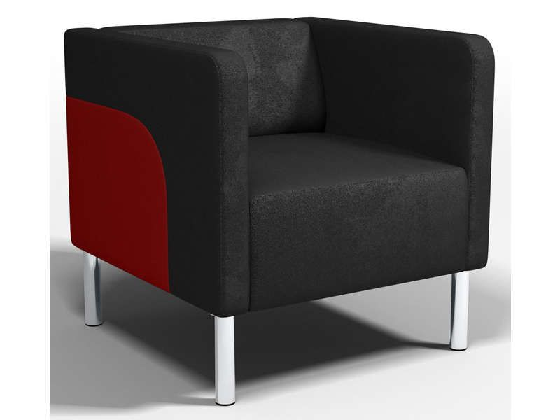 fauteuil brakk coloris noir et rouge conforama pickture. Black Bedroom Furniture Sets. Home Design Ideas