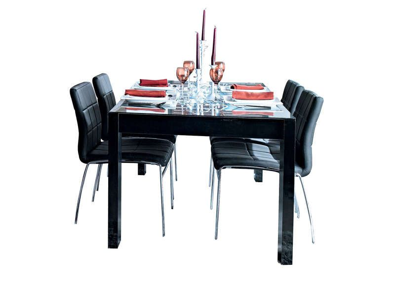 table rectangulaire 163 cm bel air coloris noir conforama pickture. Black Bedroom Furniture Sets. Home Design Ideas