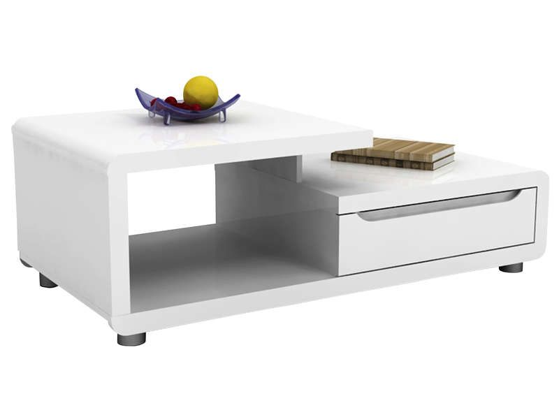 table basse bel air coloris blanc conforama pickture. Black Bedroom Furniture Sets. Home Design Ideas