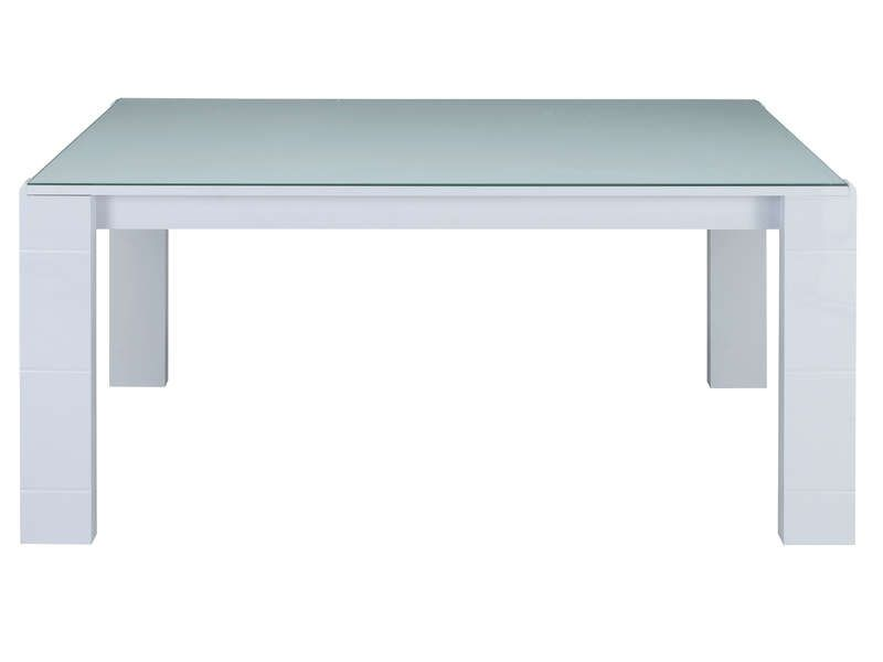 Table rectangulaire 163 cm bel air coloris blanc for Table sejour conforama