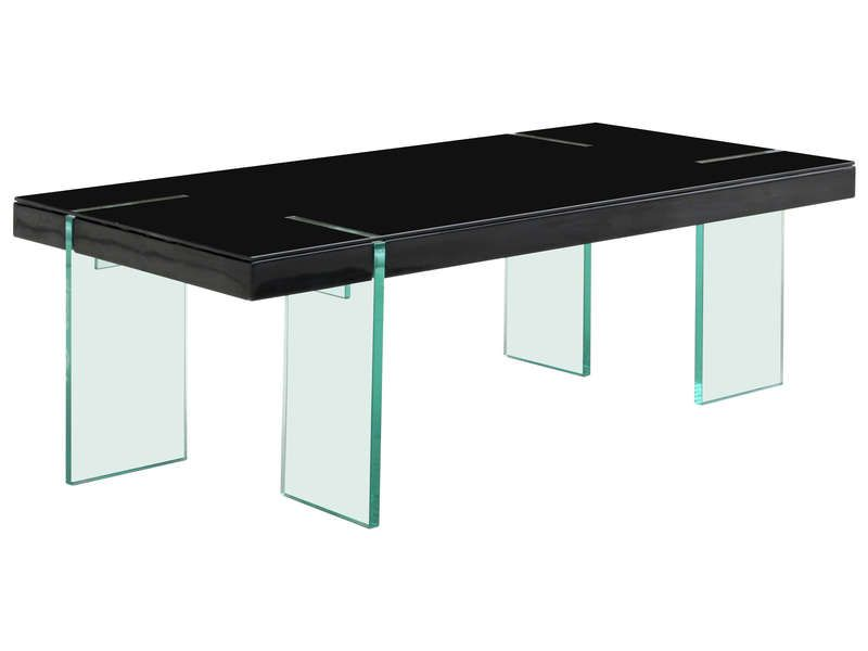 Table basse rectangulaire marbella coloris noir conforama pickture - Table basse noir conforama ...