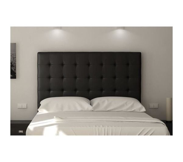 sogno tete de lit capitonn e 160 cm pu noir noname pickture. Black Bedroom Furniture Sets. Home Design Ideas