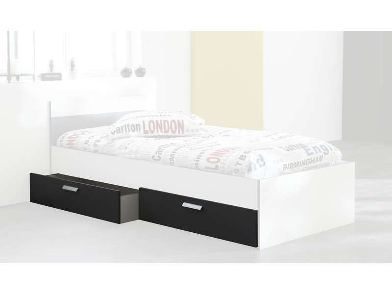 tiroirs de lit option rangement george coloris conforama pickture. Black Bedroom Furniture Sets. Home Design Ideas