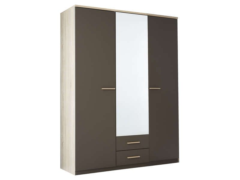 armoire selena coloris ch ne bross lave conforama. Black Bedroom Furniture Sets. Home Design Ideas