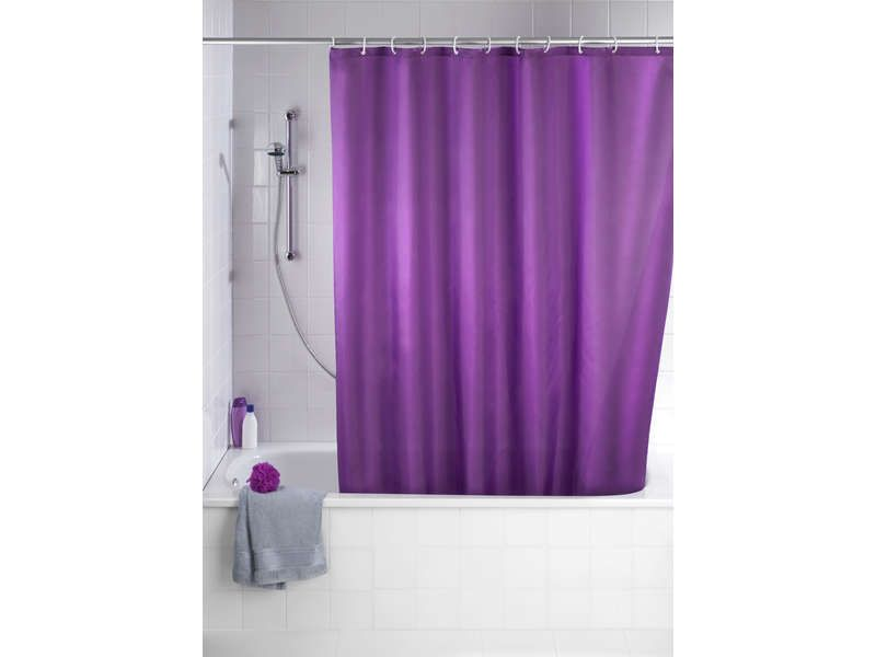 rideau de douche lila coloris violet conforama pickture. Black Bedroom Furniture Sets. Home Design Ideas