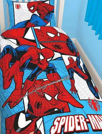 parure de lit 39 spiderman 39 kiabi pickture. Black Bedroom Furniture Sets. Home Design Ideas