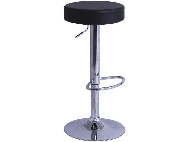 Tabouret de bar de cuisine rump coloris noir conforama for Siege de tabouret de bar