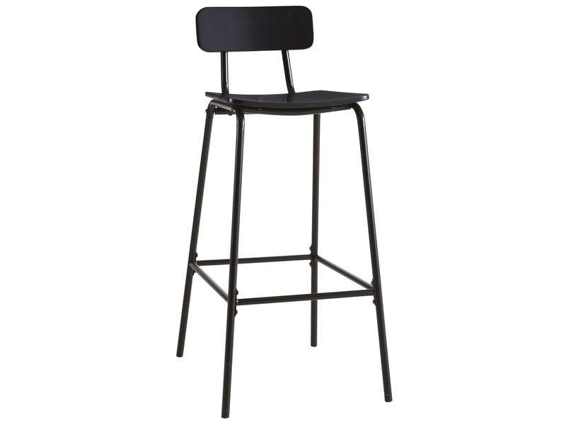 tabouret de bar mika coloris noir conforama pickture. Black Bedroom Furniture Sets. Home Design Ideas