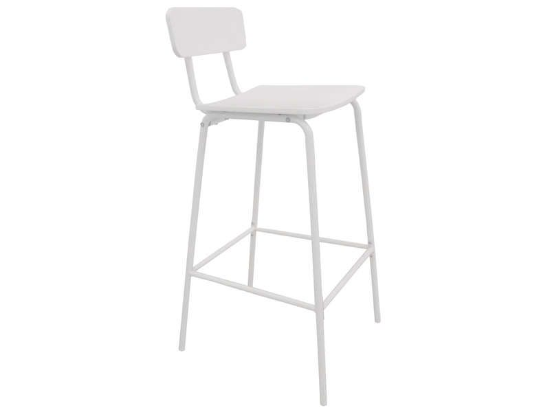 tabouret de bar coloris blanc conforama pickture