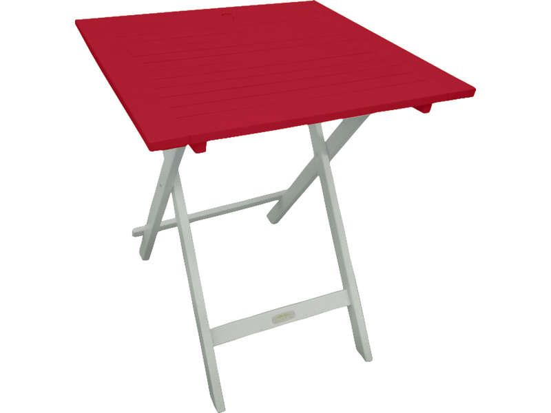 Table de jardin 65 cm pliante trinidad coloris conforama - Table rouge conforama ...