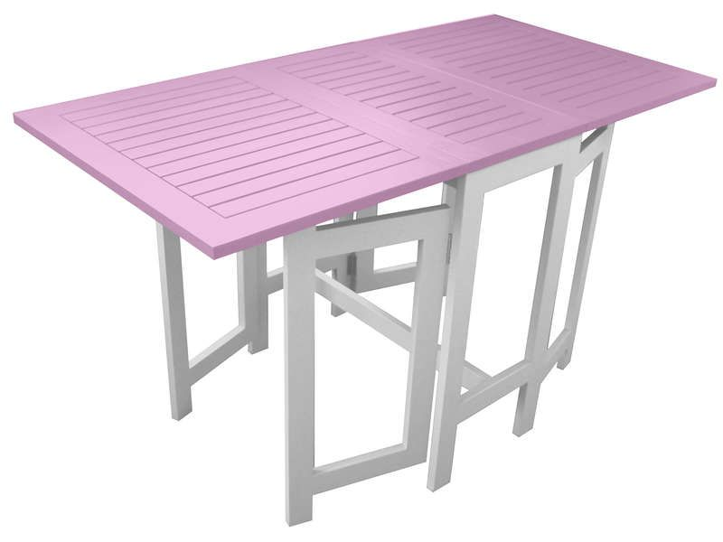 Table de jardin 130 cm pliante trinidad coloris - Table jardin rose ...
