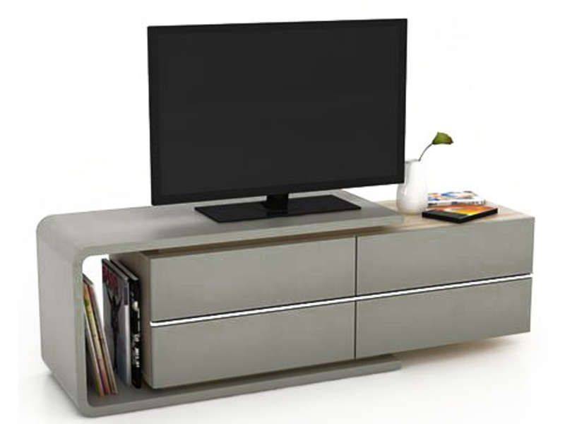 Meuble tv caporal coloris beige conforama pickture for Meuble tv beige