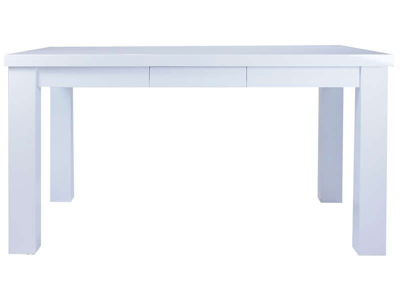 Table de cuisine 90 cm leen coloris blanc conforama for Chemin de table conforama