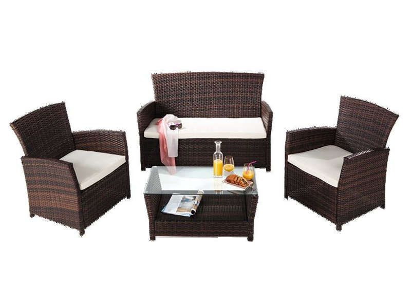 Salon de jardin rhodes coloris marron conforama pickture - Salon de detente pas cher ...