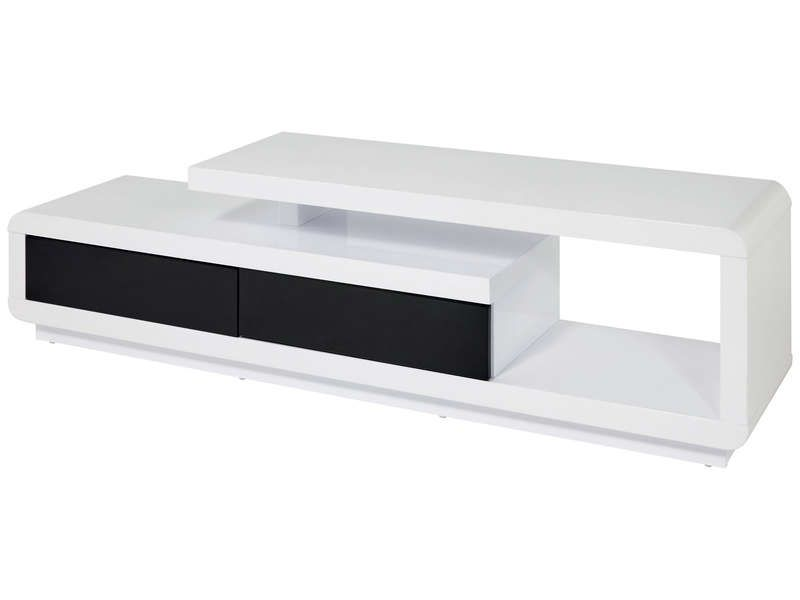 Meuble tv winner 2 conforama pickture for Meuble tele noir et blanc