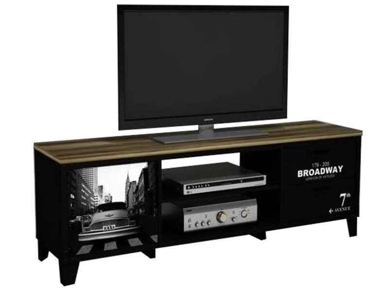meuble tv broadway conforama pickture. Black Bedroom Furniture Sets. Home Design Ideas