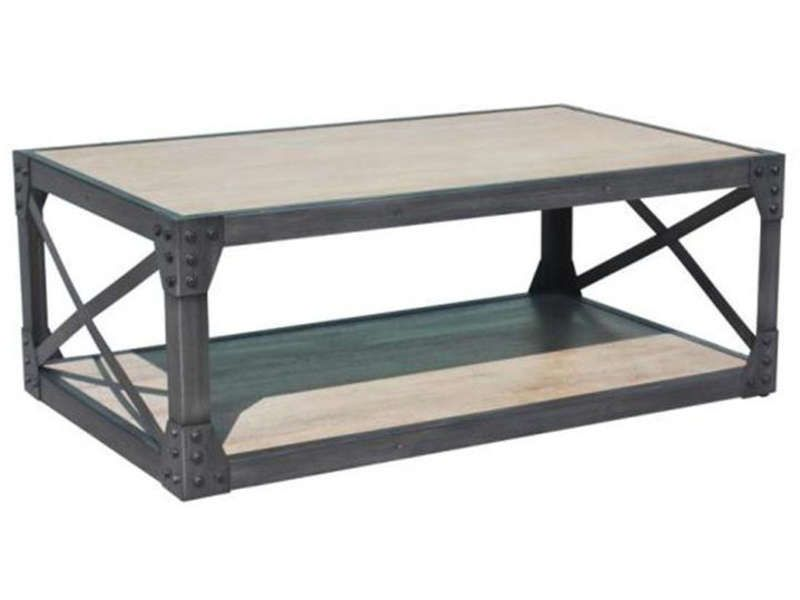 Table basse michigan conforama pickture for Table de salon industriel