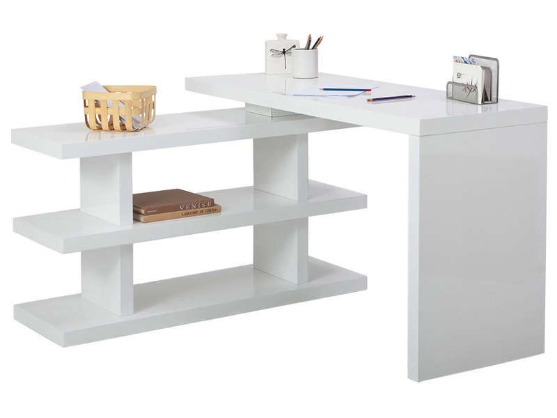 Bureau volta 2 coloris blanc conforama pickture for Bureau conforama