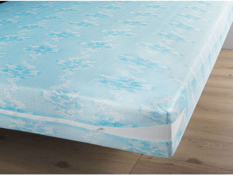 prot ge matelas 160x200 cm coloris bleu conforama pickture. Black Bedroom Furniture Sets. Home Design Ideas