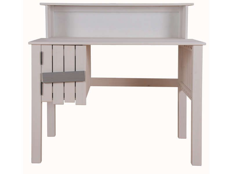 bureau bicolore tabouret amazone coloris blanc. Black Bedroom Furniture Sets. Home Design Ideas