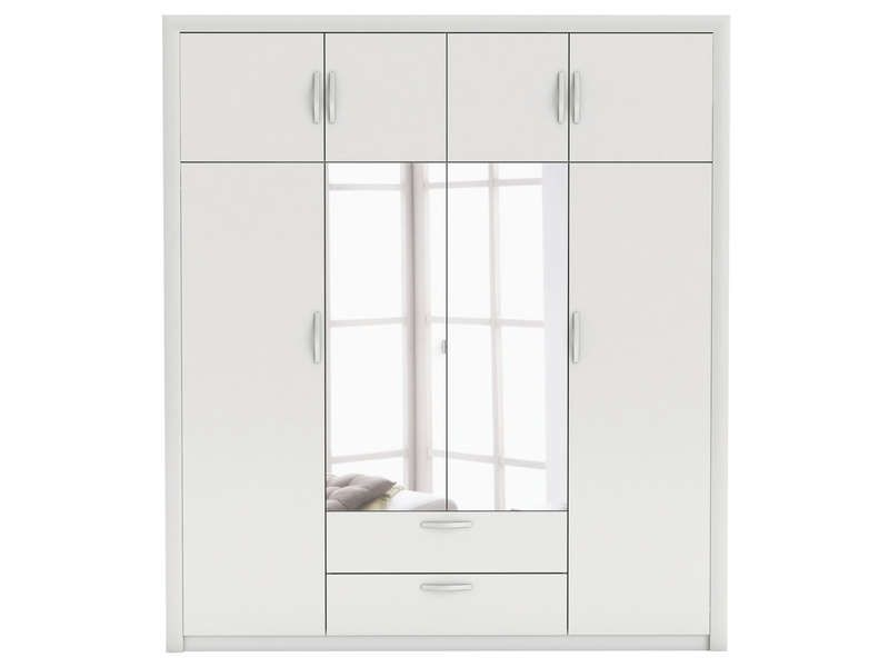 Armoire pluton coloris blanc conforama pickture for Armoire penderie blanc conforama